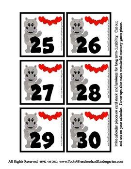 Valentine Calendar Covers featuring Hollis Hippo - 3 designs Lotto Pieces