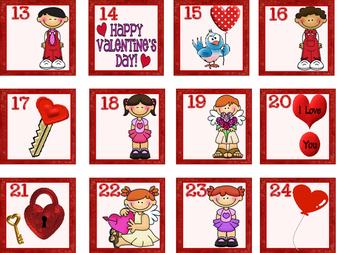 Valentine Calendar Set