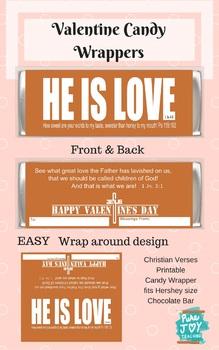 Valentine Candy Bar Wrapper - Christian Verse