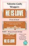 Valentine Candy Bar Wrapper - Christian Verse