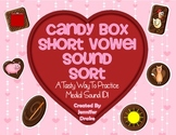 Valentine Candy Box Short Vowel Sort ~Tasty Way To ID Medial Sounds!~