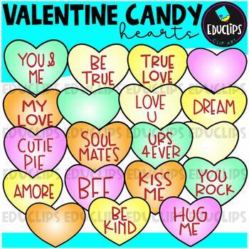 Valentine Candy Clip Art Bundle {Educlips Clipart}