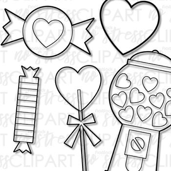 Valentine Candy Clip Art (Digital Use Ok!)