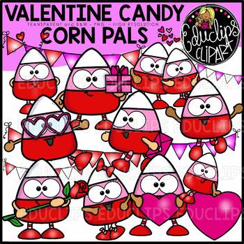 Valentine Candy Corn Pals Clip Art Bundle {Educlips Clipart}