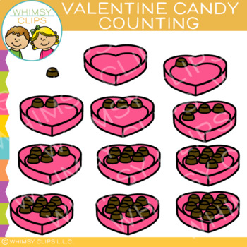 Valentine Candy Counting Clip Art