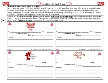 Valentine Candy Grams (Editable)