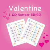 Valentine Candy Heart BINGO - Numbers 1-120