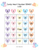 Valentine Candy Heart BINGO - Numbers 1-30