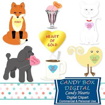 Valentine Candy Heart Clip Art