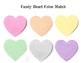 Valentine Candy Heart Color Match