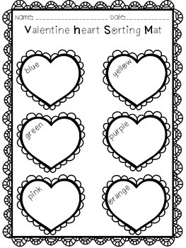 Valentine Candy Heart Graphing Activity - No Prep