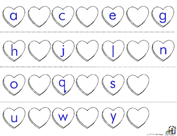 Valentine Candy Heart Letter Sequencing by C and L Curriculum  TpT