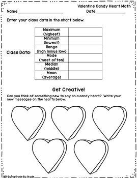 Valentine Candy Heart Math Freebie