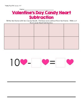 Valentine Candy Heart SUBTRACTION