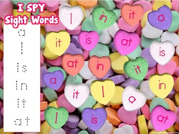 Valentine Candy Heart Sight Word Hunt