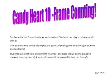 Valentine-Candy Heart Ten Frame Game