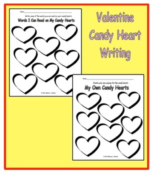 Valentine Candy Heart Writing