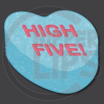 Valentine Candy Hearts Clip Art!