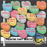 Valentine Candy Hearts Clip Art!