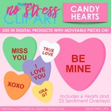 Valentine Candy Hearts Clip Art (Digital Use Ok!)