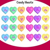 Valentine Candy Hearts Clip Art by Jeanette Baker
