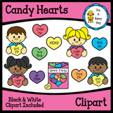 Valentine Candy Hearts Clipart