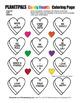 Valentine Candy Hearts Coloring & Construction Kindness Lesson Bundle