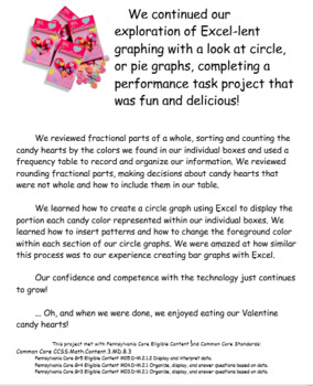 Valentine Candy Hearts Excel-lent Circle Graphing
