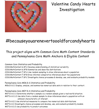 Valentine Candy Hearts Investigation Excel-lent Bar Graphing