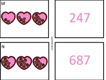 Valentine Candy Hearts Place Value