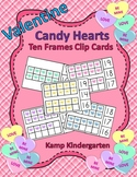 Valentine Candy Hearts Ten Frames Math Centers Quantities to 20