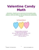 Valentine Candy Math Graphing and Computation