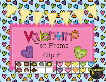 Valentine Candy Ten Frame Clip It