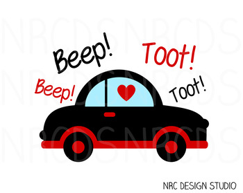 Valentine Car SVG Cutting File - Commercial Use SVG, DXF, EPS, png
