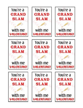 Valentine Card: Baseball Grand Slam Valentine's Day Class Cards
