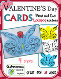 Valentine's Day Card Butterfly Lollipop Holder (and Candy Gram)