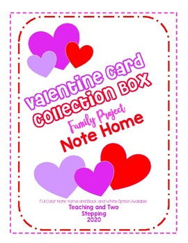 Valentine Card Collection Box Family Project Note Home