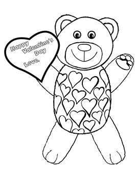 Valentine Card Coloring Freebie!