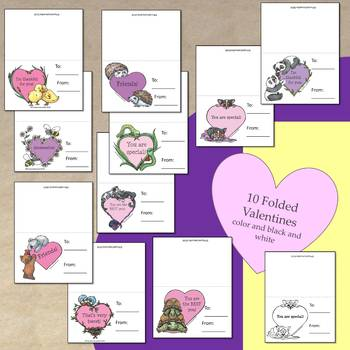 Valentine Card Craft and Writing Activity