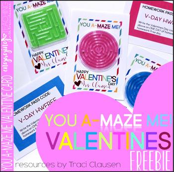 Valentine Card FREEBIE - You A-MAZE Me