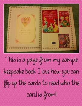 Valentine Card Keepsake Book {FREE}