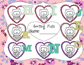 Valentine Card Letter Sorting Mats and Puzzles