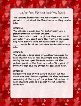 Valentine Card Pockets