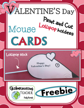 Valentine's Day Card - Lollipop Mouse