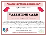 """Valentine Card: Theme from """"Rooster Can't Cock-a-Doodle-Doo"""