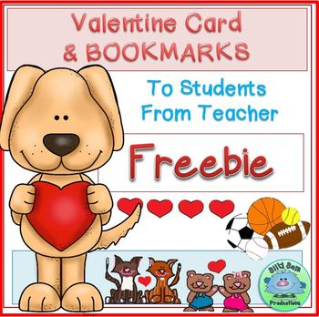 Valentine Card To Students From Teacher FREEBIE