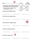 Valentine Card Word Safari by Lisa Buchholz