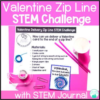 Valentine Card Zip Line Delivery STEM Challenge