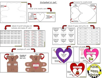 Valentine Card and Writing Activity