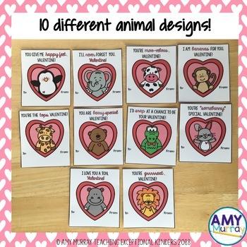 Valentine Cards - Animal Themed